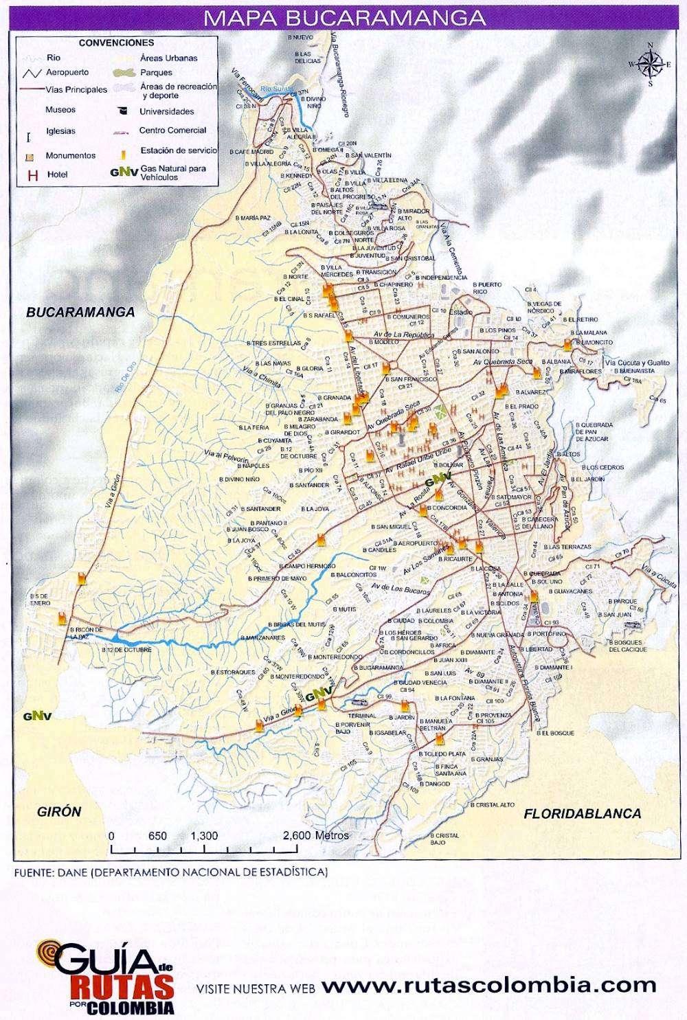 Mapas de Bucaramanga